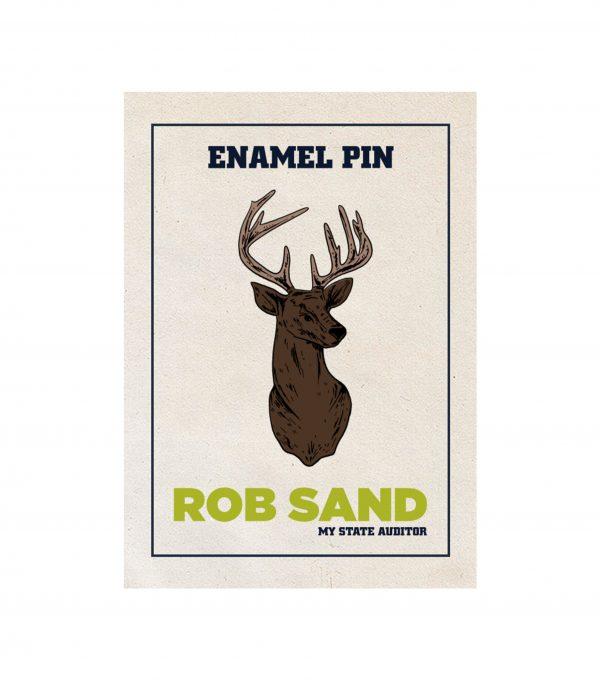 Rob Sand Enamel Buck Pin