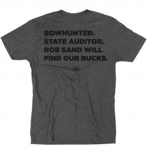 Unisex Gray Bowhunter T-shirt Back